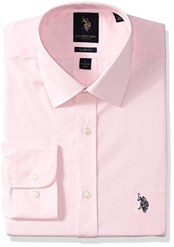 U.S. Polo Assn.... mens Slim Fit Solid Semi Spread Collar Dress Shirt