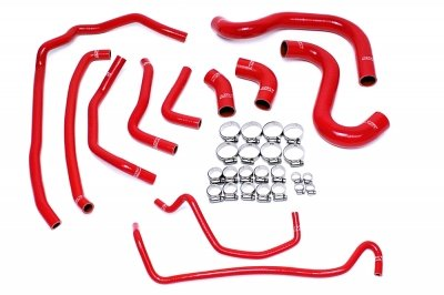 HPS 57-1502-RED Silicone Radiator and Heater Hose Kit Coolant by HPS (Image #1)