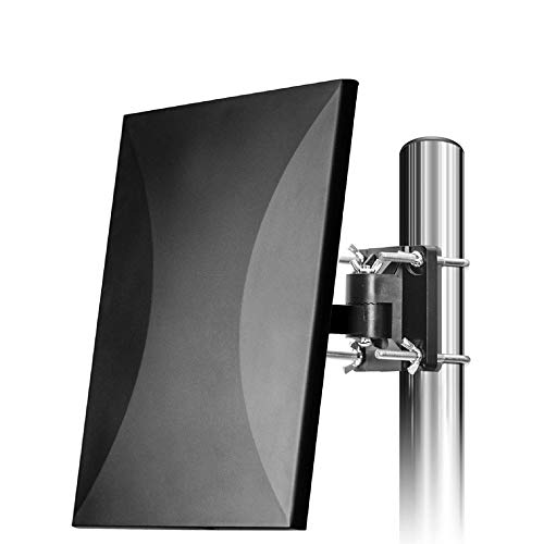 [Upgraded 2019] HDTV Antenna Amplified Digital Outdoor Antenna Up to 150 Miles Amplifier Signal Booster Support 4K 1080P UHF VHF Freeview HDTV Channels, 33ft Coax Cable for Indoor/Outdoor/RV/Attic Use (Antenna For Outdoor Tv)