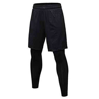 cf96ebf18f Vertvie Mens Compression Sports Pants Yoga Leggings Tights Running Clothes  for Gym Workout: Amazon.co.uk: Clothing