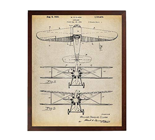 Turnip Designs Bi Wing Canvas Art Airplane Art Airplane Print Airplane Canvas Aviation Decor Aviation Art TNP156