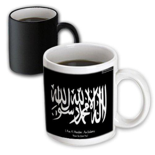 3dRose Rick London Famous Wisdom Quote Gifts - Islamic Symbol - Islamic Symbol Peace Be Upon You - Wisdom Gifts - 11oz Magic Transforming Mug (mug_36641_3) by 3dRose