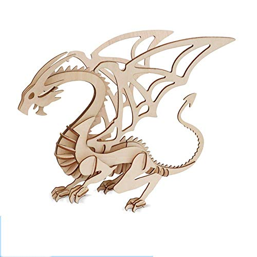 3D Wooden Puzzle,Dragon Model Kits,Flying