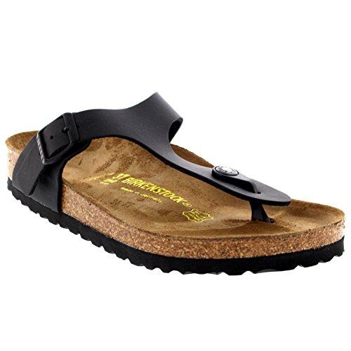 Birkenstock Women's Gizeh Cork Footbed Thong Sandal Black 40 M EU