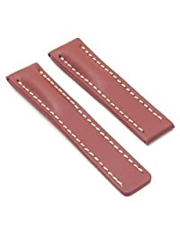 DASSARI Capital Rust Smooth Leather Watch Band for BREITLING 24/22 24mm