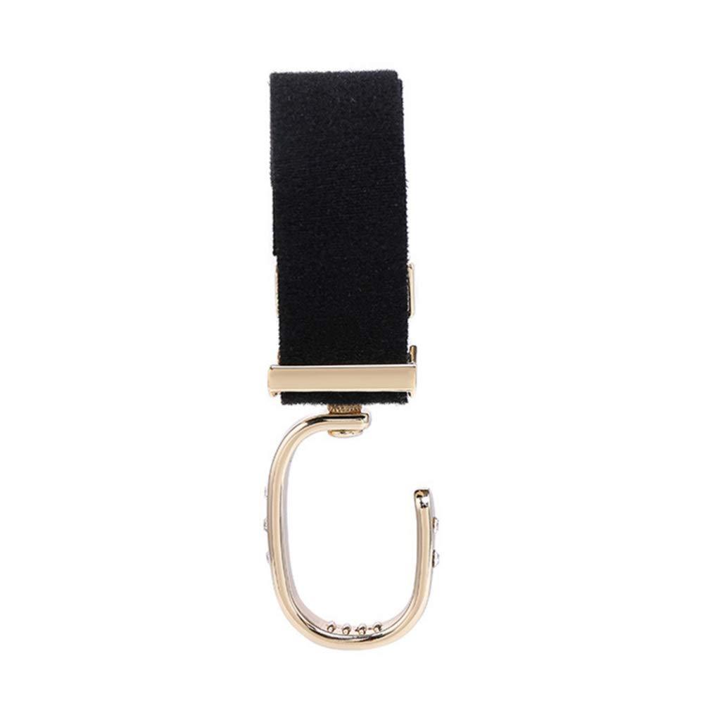 TOYANDONA Stroller Hook 360 Degree Rotation Multi Purpose Hooks Magic Tape Baby Stroller Hanger Baby Diaper Bags Clips for Diaper Bag Grocery Black/ï/¼/‰