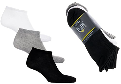 Everlast Men's 7Pack Assorted No-Show Athletic Low-Cut Socks, Shoe Sizes 6-12 from Everlast