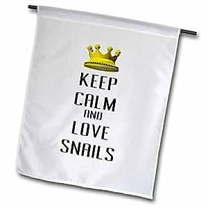 Blonde Designs Gold Crown For Keep Calm Love Animals - Gold Crown Keep Calm And Love Snails - 18 x 27 inch Garden Flag (fl_121311_2)