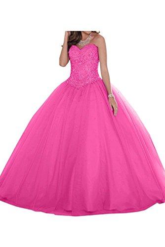 Abschlussballkleider Braut Damen Rock Marie A Linie Prinzess Ballkleider Quincenera Blau Spitze Pink La Ballkleider qaXxfw