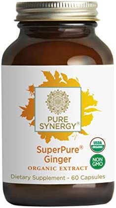 Pure Synergy Organic SuperPure Ginger Extract 60 Capsules w Shogaols Gingerols