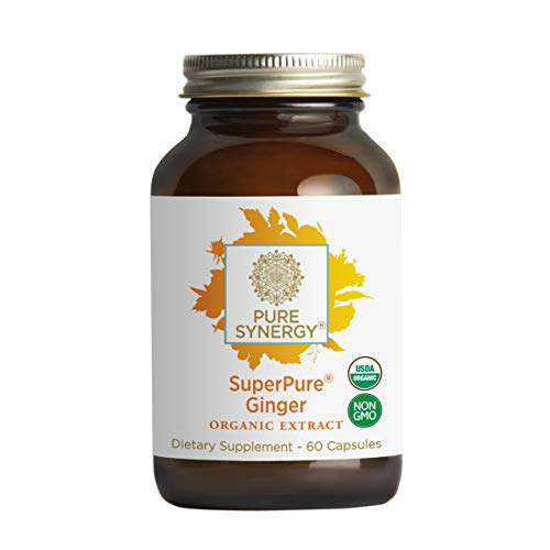 - Pure Synergy Organic SuperPure Ginger Extract (60 Capsules) w/Shogaols & Gingerols