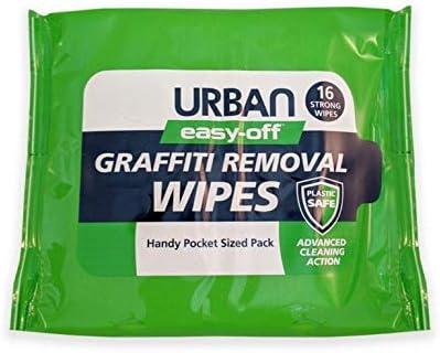 Easy-Off Graffiti limpiador ANTI-GRAFFITI toallitas. Quitar de tinta, tinte, spray de pintura, bolígrafo