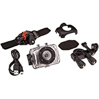 Proscan PAC100 Waterproof Sports & Action Video Camera, Silver