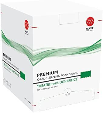 Premium Dentrifice Treated Oral Swabs, Disposable Oral Care Swabsticks 250 Count