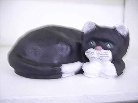 Gato kuschelt - Figuras de Animales figuras - Gato - Decoración gato - Gatos - K007: Amazon.es: Jardín