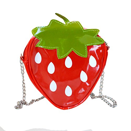 Mily Cute Fruit Messenger Bag Coin Purse Clear Summer Bag Purse Handbag Strawberry