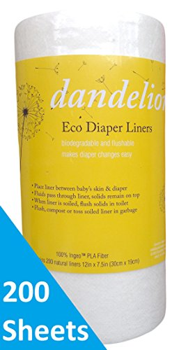 Dandelion Diapers Biodegradable Flushable Eco Friendly product image