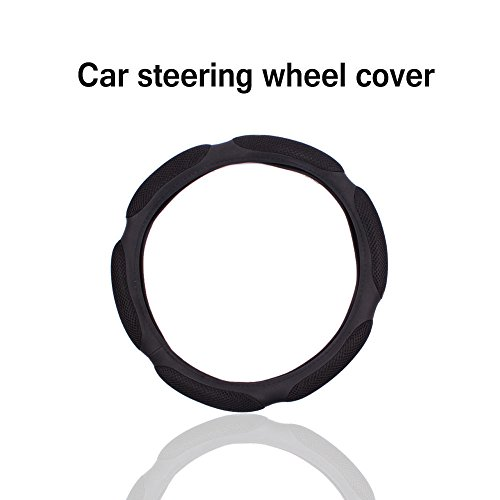 Steering Wheel Cover, Teenitor Top Quality Air Mesh and Foam Padded Universal Steering Wheel Cover Fits 14.5