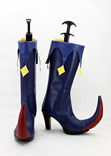 Puella Magi Madoka Magica Walpurgis Night Cosplay Shoes Boots Custom Made Blue bfnnyZ06V