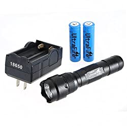 Ultrafire WF-502B CREE XM-L T6 LED 1000LM Flashlight Torch + 18650 Charger + 2*18650 Battery by Spring Digi Center