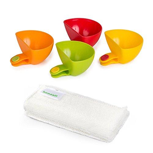 - Konsait dip clips,Plate Grab Clip-on Dip Holders(set of 4)