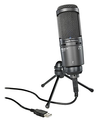 Audio-Technica AT2020USB+ Cardioid Condenser USB Microphone Bundle with Headphones, Pop Filter, Cable Ties, and Austin Bazaar Polishing Cloth by Audio-Technica (Image #1)