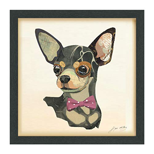 Empire Art Direct Chihuahua Dimensional Collage Handmade by Alex Zeng Framed Graphic Dog Wall Art 17