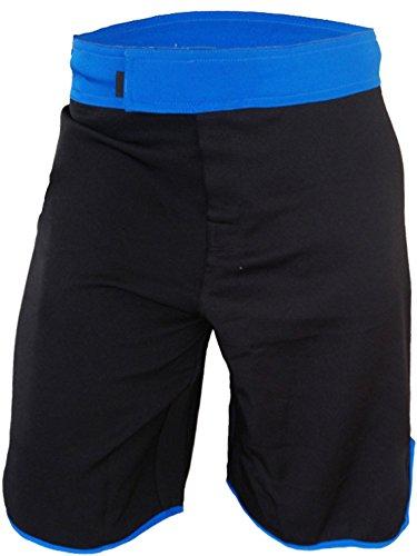 Kid's MMA Shorts (Black/Blue, Youth 8)
