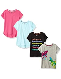 84315f656f Girls  4-Pack Short-Sleeve T-Shirts