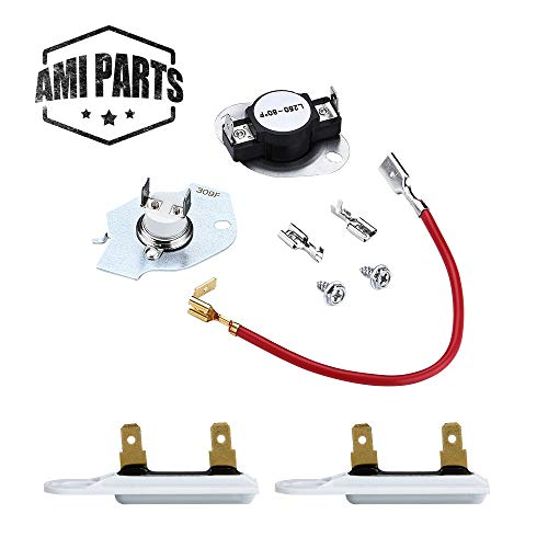 279816 Dryer Thermostat Kit & 3392519 Dryer Thermal Fuse Compatible with Whirlpool & Kenmore Dryer Replacement Part by AMI - Replaces 3977393 PS334299 ()