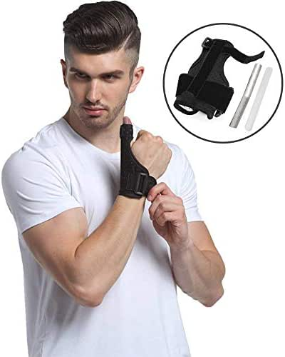 Thumb Splint Breathable Thumb Spica Wrist Support Brace for De Quervains Tenosynovitis, Arthritis, Tendonitis, Trigger Thumb Immobilizer Fits Men Women Left and Right Hand