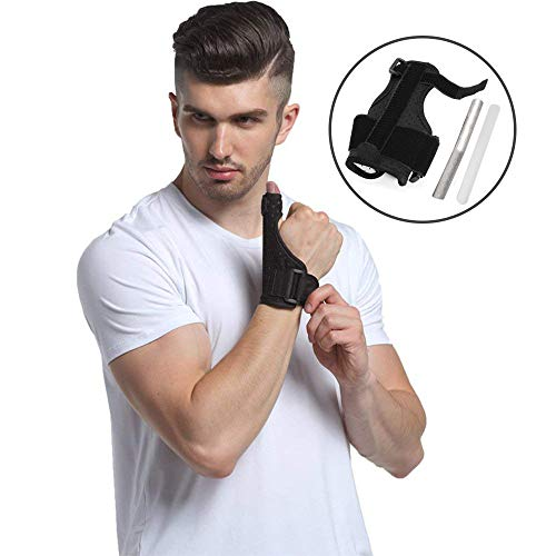 Thumb Splint Breathable Thumb Spica Wrist Support Brace for De Quervains Tenosynovitis, Arthritis, Tendonitis, Trigger Thumb Immobilizer Fits Men Women Left and Right Hand ()