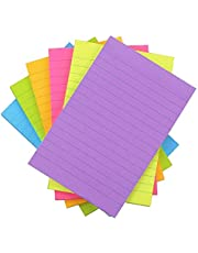 Lined Sticky Notes 4x6, 6 Color Bright Colorful Sticky Pad, 6 Pads/Pack, 45 Sheets/Pad, Self-Sticky Note Pads