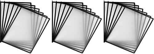 Martin Yale MVS6 Replacement Sleeves (3-Pack) For use with MVMD24/MVMD12 MasterView Desktop Standands and MVW12 MasterView Wall Mount System, Glare-free sleeves holds 8 1/2