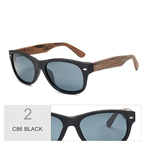 en la TL gafas acetato de C99 sol grano Violeta C86 de Sunglasses Similar sol BLACK madera hombre gafas al de 1q61F