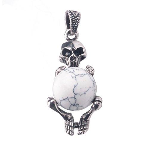 Silver Skull Locket Necklace - 3
