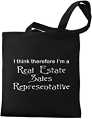 Eddany I think therefore I'm Real Estate Sales Representative Canvas Tote Bag