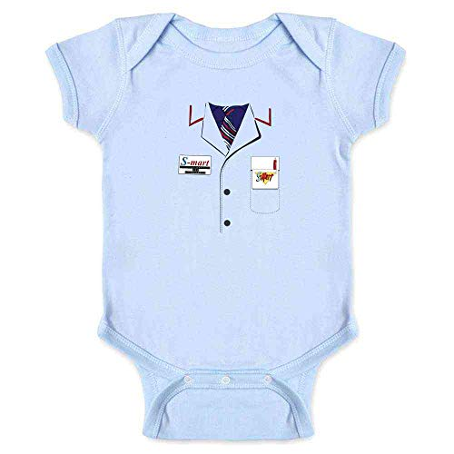 Ash Shop S-Mart Halloween Costume Horror Zombie Light Blue 6M Infant Bodysuit -