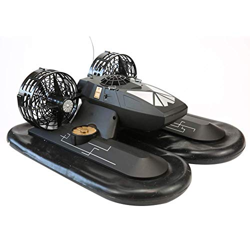 ZQYR GAME# RC Boat 4 Channel Radio Hover Ship Amphibious Remote Control Hovercraft Boat Toy for Kids Black, Model: 6653