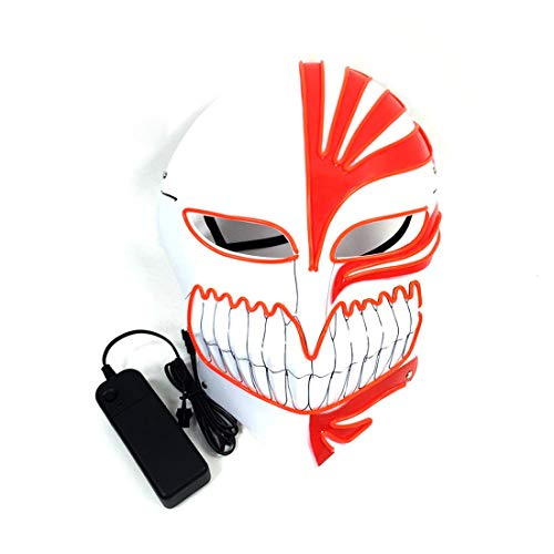HBOS Light up Clown Mask Scary Mask Halloween Cosplay Led Costume El Wire Masks]()