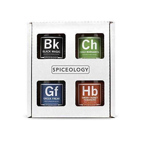 4-Pack BBQ Rubs - Spiceology Smoky Honey Habanero, Chile Margarita, Greek Freak, and Black Magic Grilling Spice and BBQ Rubs by Spiceology (Image #9)