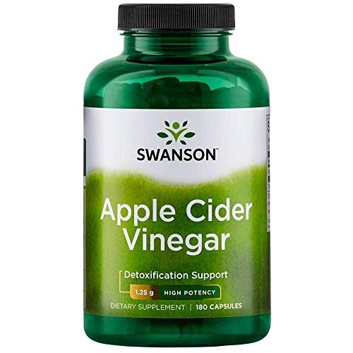 (High Potency Apple Cider Vinegar 625 mg 180 Caps by Swanson Ultra)