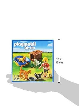 Playmobil Veterinaria - Familia de gatos con cesta, playset (5535): Amazon.es: Juguetes y juegos