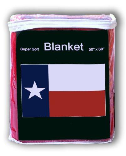 Super Soft Texas State Flag Fleece Blanket 5 ft x 4.2 ft. Throw Cover Texan Flag Lonestar Bedding