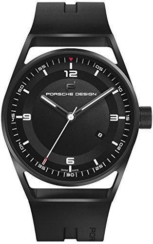 Porsche Design 1919 Datetimer Automatic Watch, Titanium, Black & Rubber