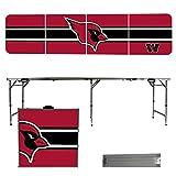 NCAA Wesleyan University Cardinals Stripe Version Folding Tailgate Table, 8'