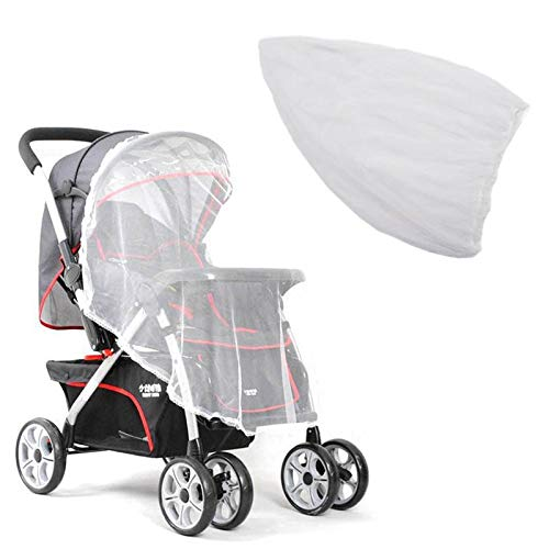 White BiuBuy Baby Stroller Mosquito net Full Cover Encryption Breathable Summer Travel and Indoor
