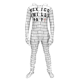 Mexico Will Pay Zip Up Costume Jumpsuit (Adult S/M) White