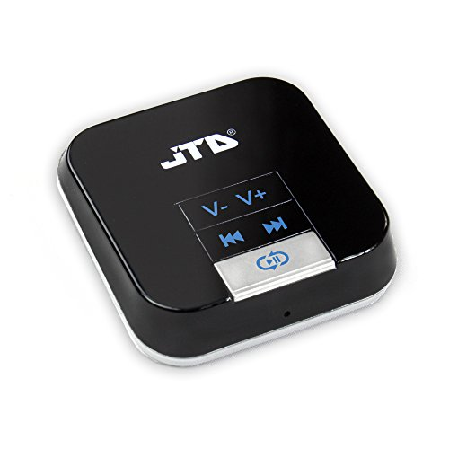 JTD ® Bluetooth Receiver Wireless Bluetooth Audio Music Streaming Receiver With 3.5mm Stereo Output Connect Your PC, iPhone, iPod, iPad, Tablets Or MP3 Player To Speakers And Entertainment Systems, Home Or Car