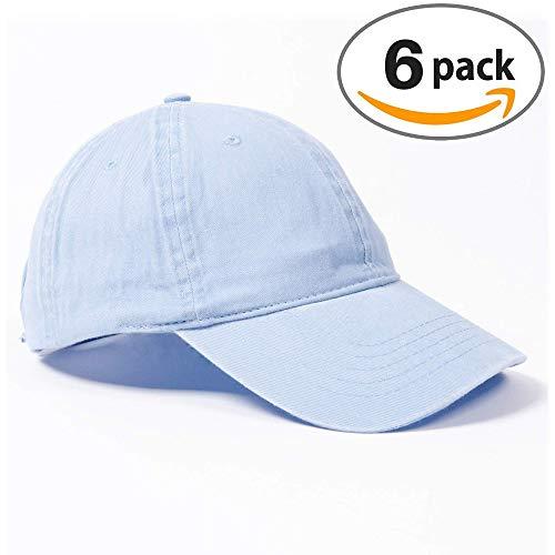 Infinity Headwear Ladies Cashmere Blue Wash Caps 6 - Baseball Cashmere Cap